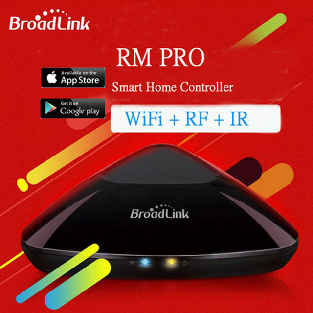 New Broadlink Rm2 Rm Pro Universal Intelligent Controller Smart Home Automation WiFi+IR+RF Switch Remote Control Via IOS Android