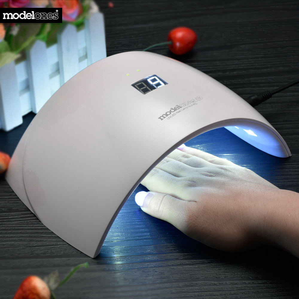 Modelones SUN9c 24W UV LED Nail lamp 15LEDs Nail dryer for All Gels 30s/60s button Perfect Thumb Solution 9X Led Lamp Nail Dryer