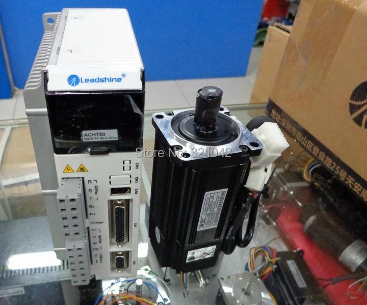 все цены на New Leadshine AC Servo Drive L-750 and servo motor 750W ACM8008M2H-60-B 2500 line servo motor work 220VAC RUN 3000RPM out 2.39NM онлайн