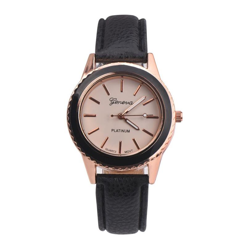 Noble Luxury Fashion Vogue Womens Mens Simple Unisex Faux Leather - Relojes para mujeres