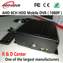 AHD 8CH HDD Mobile DVR 7 channel front view/side view monitoring 1 rear host 1080P hd