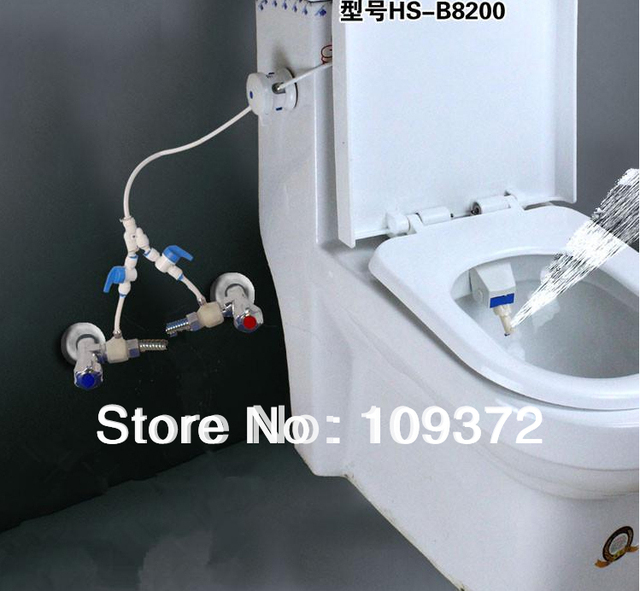Free Shipping Toilet Bidet Combination Blue and White Hygenic Bio Bidet  Shower, New Items for