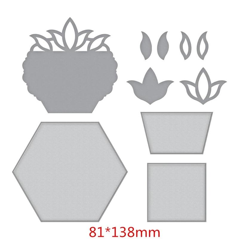 10pcs set Flower Basket Metal Cutting Dies Stencils For DIY Scrapbooking Paper Card Craft Embossing Die Cut Template New 2019 in Cutting Dies from Home Garden