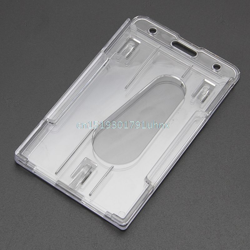 Kind-Hearted Hard Plastic Transparent Horizontal Clear Badge Cover Double Side Id Card Holders Spare No Cost At Any Cost