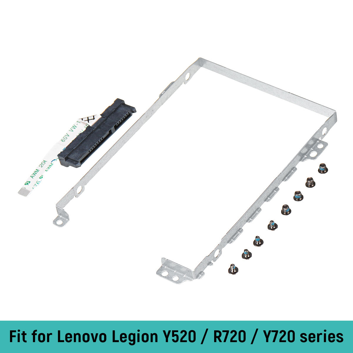 New HDD caddy For Lenovo Legion Y720 Y720-15IKB Hard Drive holder Bracket + Hard Drive HDD Connector Cable + screws new original sata hard drive connector w cable for lenovo yoga 2 13 fru 90205124 dc02001vk00