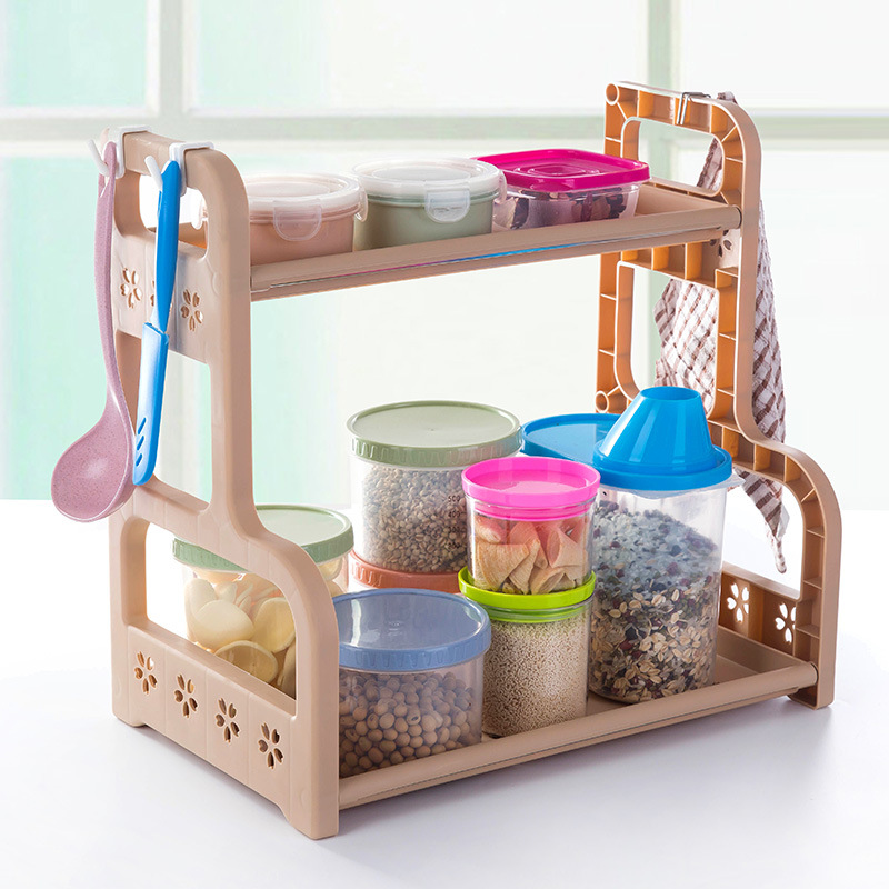 Storage rack Sponge Box makeup Jar Rack Dish Self Draining Sink Storage Rack Kitchen Bathroom Organizer Stands Utensils Rack