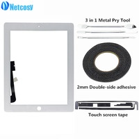 Netcocsy Black White Touch Screen Digitizer Panel Replacement For IPad 3 IPad3 A1416 A1430 A1403 Tablet