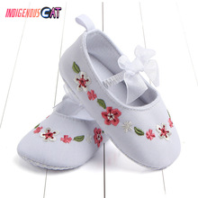 New Pattern Embroidered Baby Shoes Baby Girl Soft Shoes Soft Comfortable Bottom Non-slip Fashionshoes Crib Shoes Baby Shoes