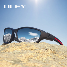 OLEY Fashion Guys Sun Glasses Polarized Sunglasses Men Classic Design Vintage Mirror Driving  Male Goggles With Brand Box