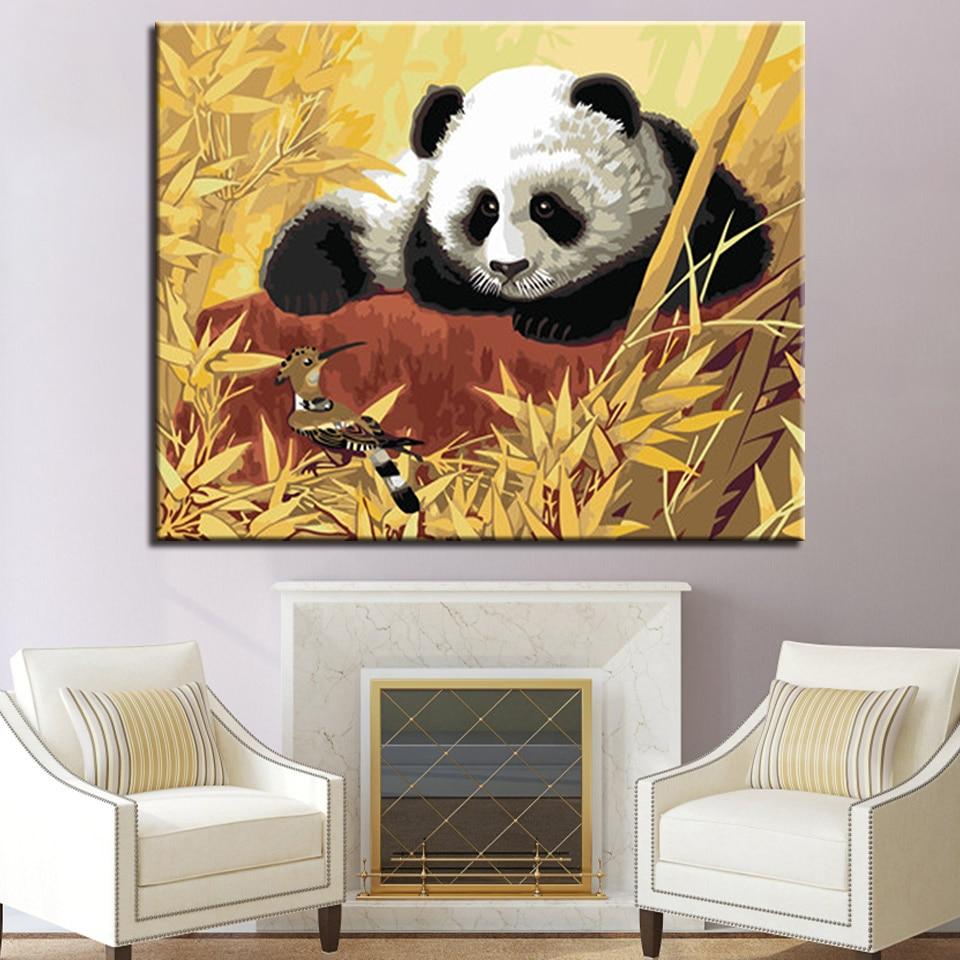 Haus & Garten Wohnkultur Tiere Panda Bilder Für Zeichnung Durch Zahlen Diy Handgemalte Farben Auf Leinwand Wand Kunst Gemälde Für Die Küche Ra3123