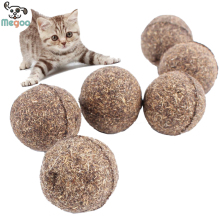 2Pcs/lot Pet Cat Toys Natural Catnip Healthy Funny Treats Ball For Cats Kitten