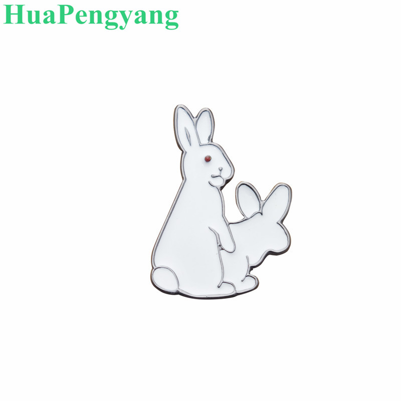 Women's fashion new jewelry Ha engaged rabbit drop oil brooch badge with lapel bag jewelry collar needle accessories wholesale