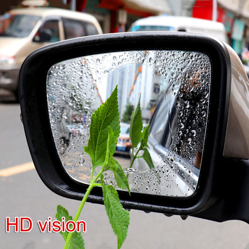 2Pcs/Set Anti Fog Car Mirror Window Clear Film Car Rearview Protective Film Waterproof NR-shipping