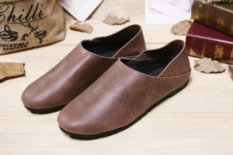 Sen Main En À Slip sur Art Personnalisé see Cuir Japonais Chaussures Gros Pédale Chart Rétro Femmes Nouvelle Chart See Casual La BqItExOx