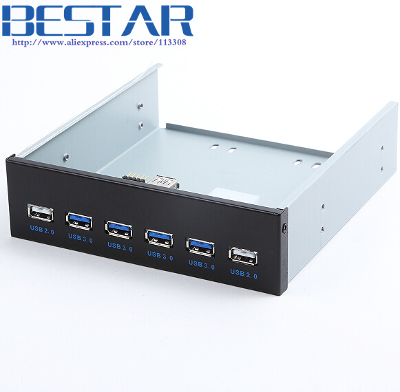 4 Ports USB 3.0 + 2 Ports USB 2.0 Desktop Computer Front Panel Optical Drives Expansion USB3.0 CD-ROM Bracket Mount HUB Bay for floppy bay 20 pin 3 5 front panel 2 ports usb 3 0 expansion adapter connector z09 drop ship