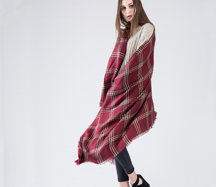 New Luxury Brands Cashmere Scarf Unisex Woolen Shawl And Wrap Warm Long Pashmina font b Tartan