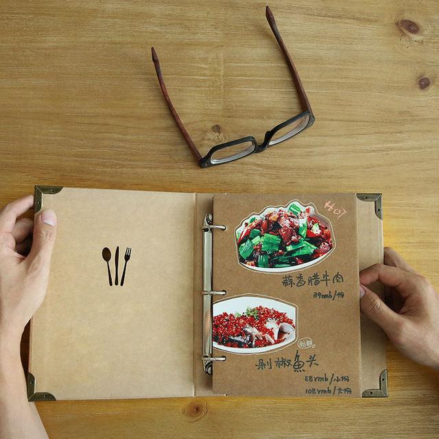 new design restaurant menu covers diy kraft menu folders coffee