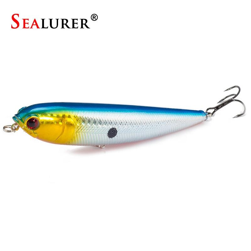 SEALURER Makšķerēšanas lures zīmulis Hard Bait Wobbler peldošs 22g 115mm plastmasas zivs karpas Pesca Isca Crankbait Rīkoties 1gab / partija