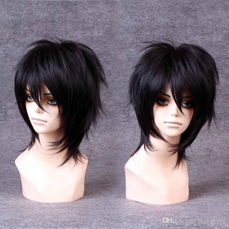 100% Brand New High Quality Fashion Picture full lace wigs>>Handsome Boys Wig New Korean Fashion Short Men Natural Black Hair