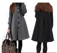 Venda Casaco Abrigos Mujer Casacos Femininos Outwear Outono E Inverno Casaco Outerwear Mulheres Casaco De Lã Longo Maternidade Roupas # C0