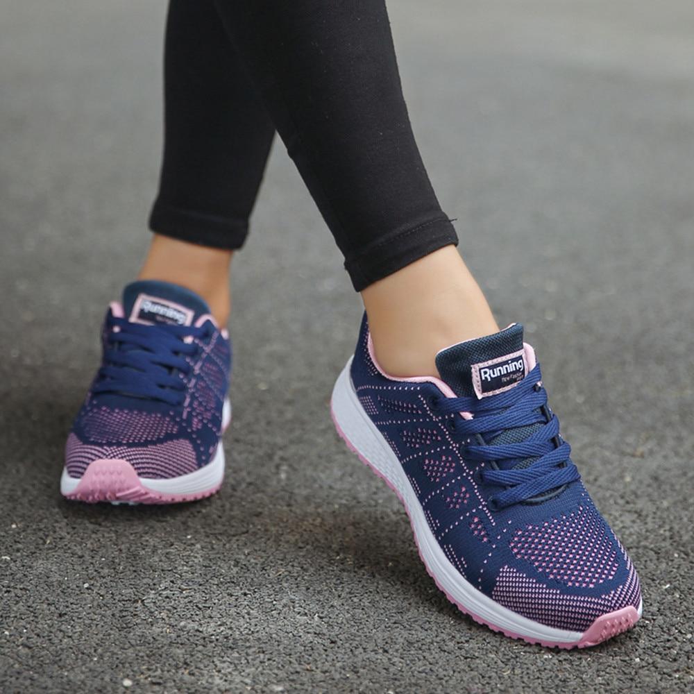 YOUYEDIAN summer women shoes sneakers women platform shoes ladies womens shoes Women Flat Platform Shoes ##*