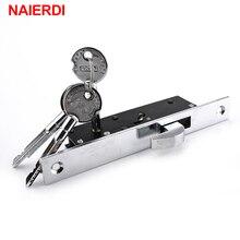 NAIERDI Sliding Door Aluminum Alloy Window Locks Anti-Theft Safety Wood Gate Floor Lock With Cross Keys For Furniture Hardware