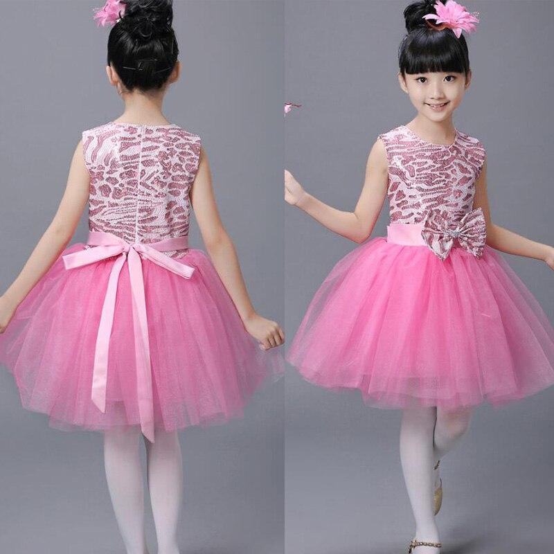 Детская современная одежда для балета; Одежда для танцев; Одежда для девочек в стиле хип-хоп; вечерние костюмы для бальных танцев; одежда для детей - Цвет: Розовый