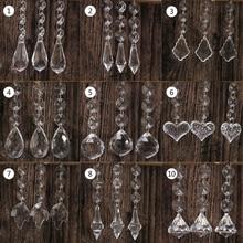 10 шт. акриловые хрустальные бусины в форме капли подвески-гирлянды для люстры вечерние украшения Свадебные Центральные элементы стола
