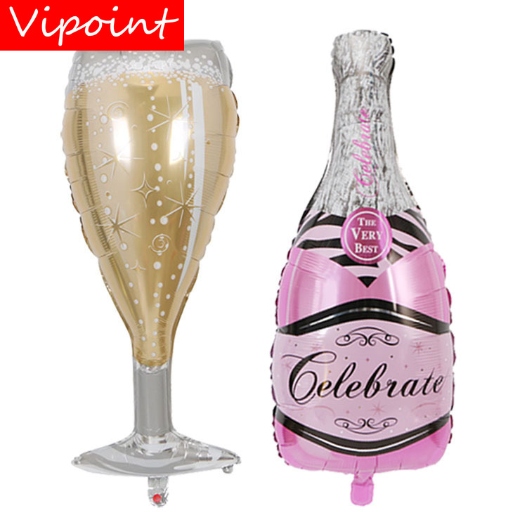 VIPOINT PARTY 49x99cm gold pink glass winebottle foil balloons wedding event christmas halloween festival birthday party HY 179 in Ballons Accessories from Home Garden
