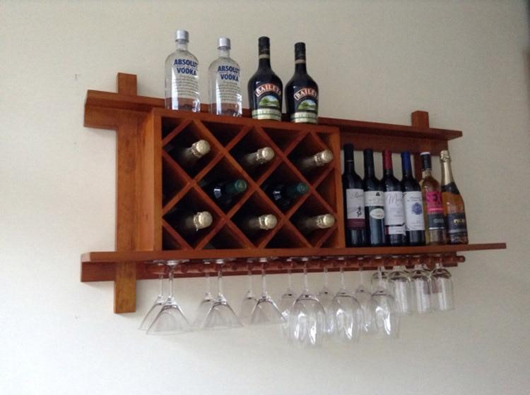 Vinho Madeira Rack De Vinho Rack De Parede Criativo