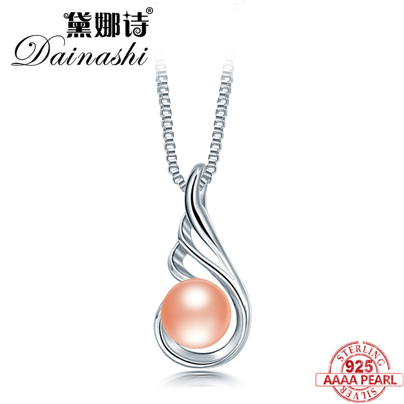 Dainashi Natural Pearl Pendants Hot Selling 925 Sterling Silver Real Pearl Pendant Necklace Party For Women Female Fine Jewelry