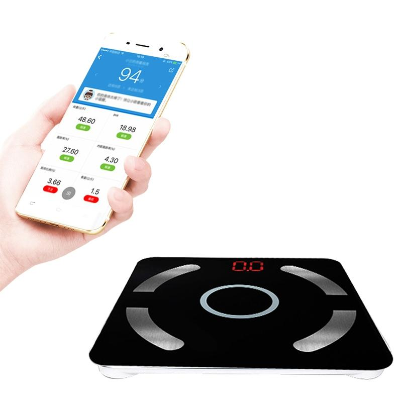 LanLan Smart Digital Bluetooth Body Fat Weighing Scale LED Display with App for Connecting Mobile Devices (English Version)-25