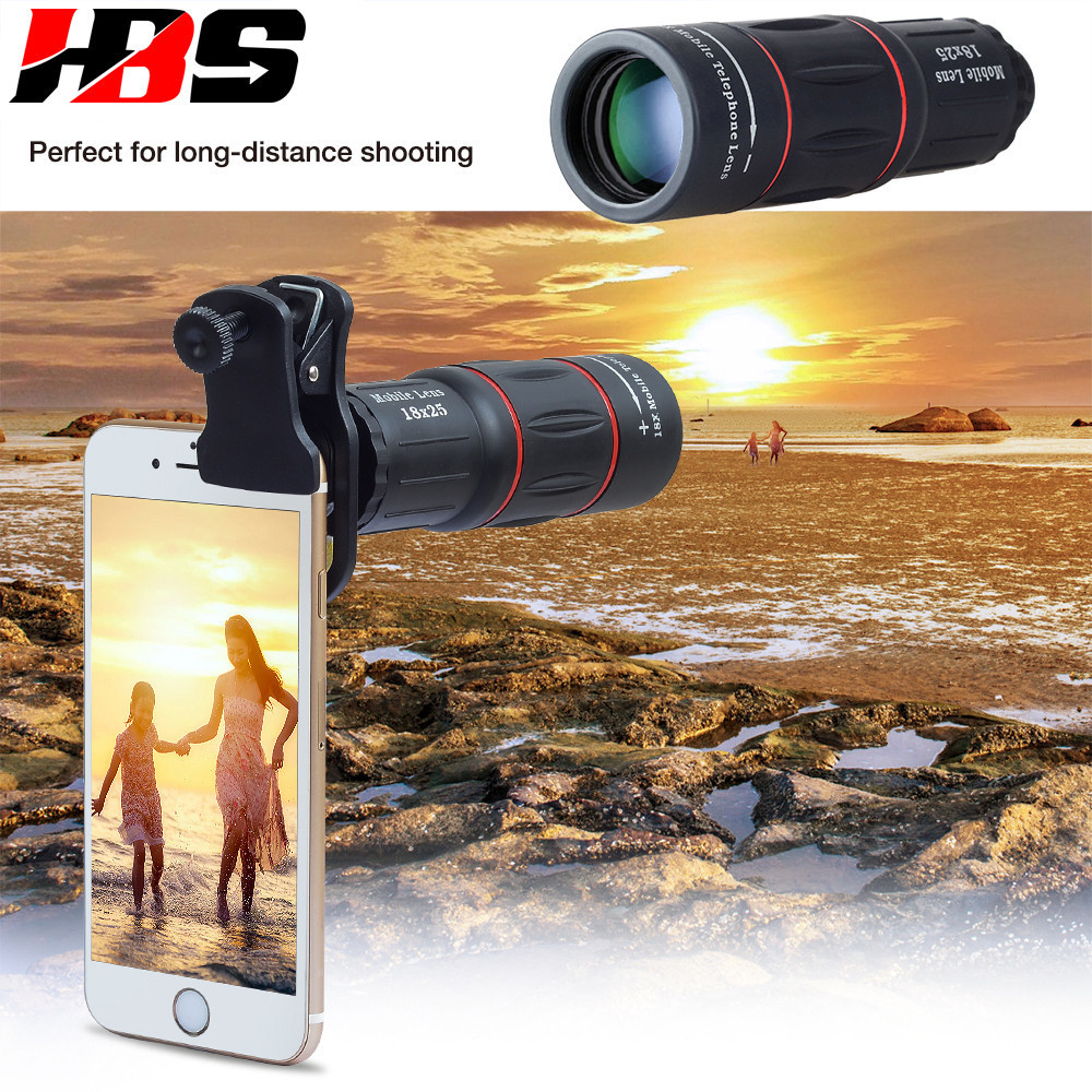 <font><b>18X</b></font> Telescope Zoom HD Mobile Phone <font><b>Lens</b></font> Telefon Camera Lents With Universal Clip Tripod For Samsung Galaxy S4 S5 S6 S7 S8 S9 image