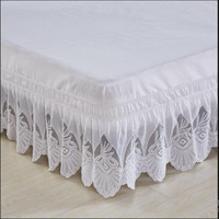 Free shipping princess lace ruffles without bed surface elastic band bed skirt bed apron twin full queen king size