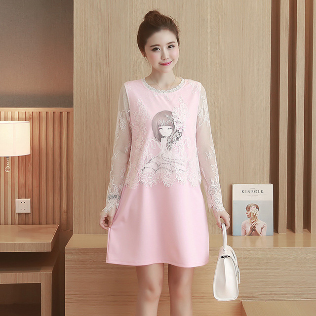 Pregnant Women Long T-shirt Loose Maternity Fashion Autumn Thin Section Maternity Thin Section Maternity Dress With long Sleeves
