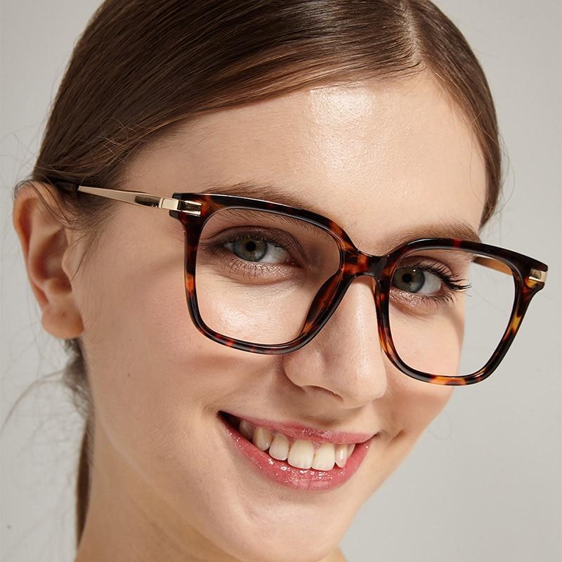 Women Designer Optical Eyeglasses Prescription Acetate Rim Spectacles for Optical Glasses Frame Fashion Styles 92121 Eyewear