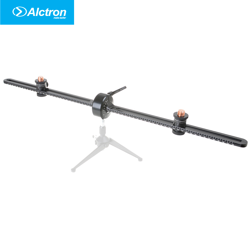Alctron MAS008 double microphone stand stereo recording dual microphone stand