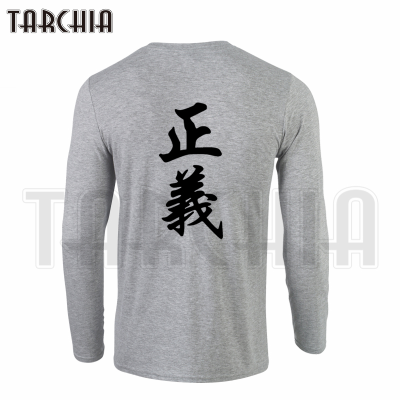 TARCHIA Hot Selling 2019 New Brand Men's Long Sleeve T-Shirt 100% Cotton Double Print Cool T Shirt Plus Size One Piece Marine