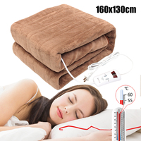 160x130cm Winter Warm Electric Blanlet Double 220V Electric Heated Blanket Mat Single control Dormitory Bedroom Heating Carpet