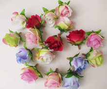 artificial flowers head Small rural small rose bud roses heart diy flower ball flower vine flower roses arches 3CM(China)