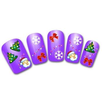Купи Goforward Для женщин DIY Nail Стикеры переноса воды Стикеры s ногтем Книги по искусству наклейки Санта медведь Снеговик и оптовая продажа со скидкой alideals
