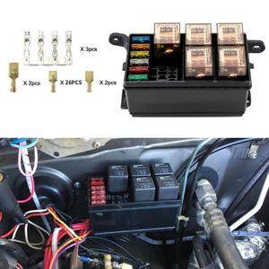 Image 3 - Universal 12V Car Marine 6 Way Relay 6 Slot ATO/ATC Blade Fuse Holder Box Car Insurance Holder Automobile Circuit Blade