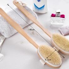 1Pc Bath Body Brush Boar Bristles Exfoliating Body