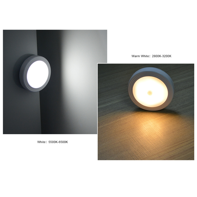 LED Under Cabinet Light PIR Body Motion Sensor NO/OFF Night Light For Kitchen Bedroom Emergency Lighting