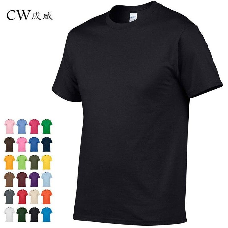 2018 Neue Einfarbig T Shirt Herren Schwarz Und Weiß 100% Baumwolle T-shirts Sommer Skateboard T Jungen Skate T-shirt Tops Modische Muster