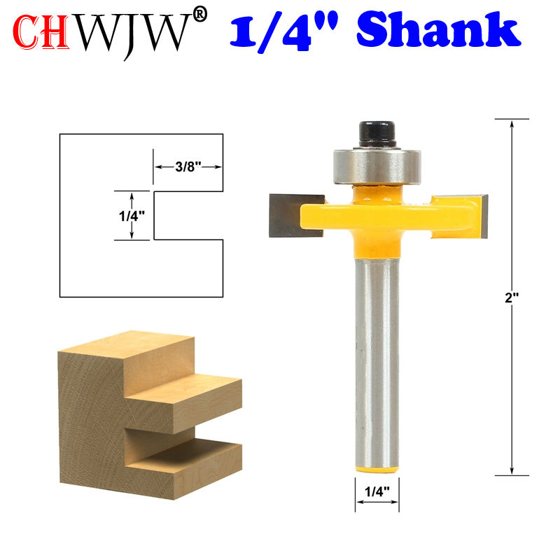 1pc Slotting Router Bit 1/4 Slot - 1/4 Shank Woodworking cutter Tenon Cutter for Woodworking Tools high grade carbide alloy 1 2 shank 2 1 4 dia bottom cleaning router bit woodworking milling cutter for mdf wood 55mm mayitr