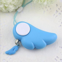 90dB Angel Wings Personal Alarm Pull Ring Activated Anti Wolf Alarm Key Chain Keyring Clip for Women Kids Elderly Students Panic