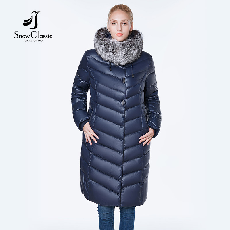 The New jacket women camperas mujer abrigo invierno 2018 coat women park plus size 6xl Silver fox fur Windproof thick-in Parkas from Women's Clothing    2