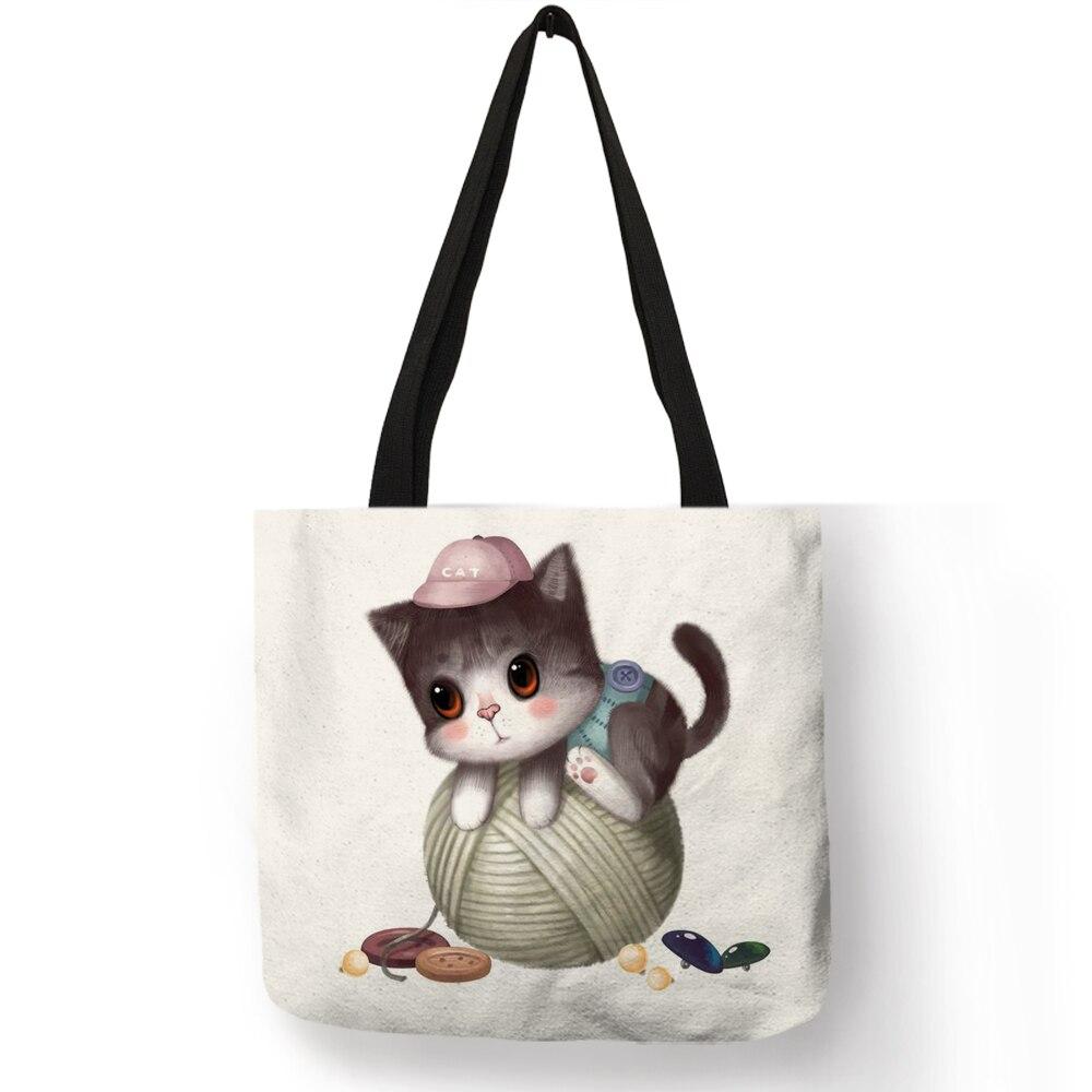 Octopus Lady Handbag Tote Bag Zipper Shoulder Bag for Shopping Travel