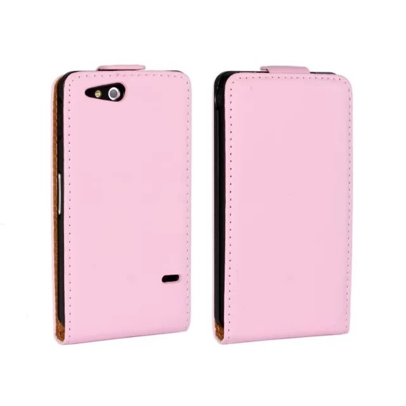 Genuine Leather Flip Cover Case for Sony Xperia L S36h/go ST27i/U ST25i/M C1905/J ST26i/ ...